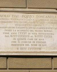 м. Флоренція. Меморіальна дошка Паоло даль Поццо Тосканеллі.