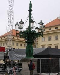 м. Прага. Канделябр на Градчанській площі.