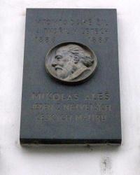 м. Прага. Меморіальна дошка Міколашу Алешу.