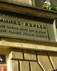 м. Прага. Меморіальна дошка Йоганну Кеплеру.