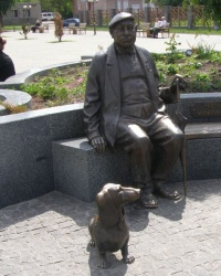 Прилуки. Памятник Николаю Яковченко.