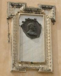 м. Тропеа. Меморіальна дошка Данте Аліг'єрі.