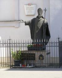 м. Відень. Пам'ятник папі Іоанну Павлу ІІ.
