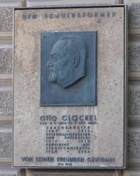 м. Відень. Меморіальна дошка Отто Глекелю.