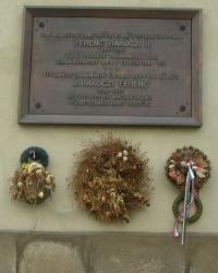 м. Прага. Меморіальна дошка Ференцу ІІ Ракоці.