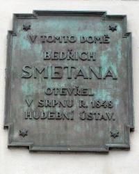 м. Прага. Меморіальна дошка Бедржиху Сметані.