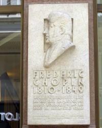 м. Відень. Меморіальна дошка Фредерику Шопену.