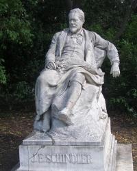 м. Відень. Пам'ятник Йоганну Шиндлеру.