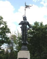м. Відень. Копія лицаря з ратушної вежі.