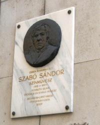 м. Будапешт. Меморіальна дошка Шандору Сабо.