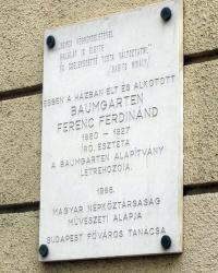 м. Будапешт. Меморіальна дошка Ференцу Фердинанду Баумгартену.