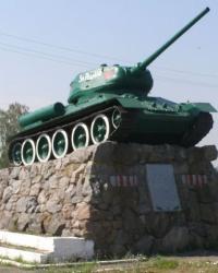 с. Штепівка. Пам'ятний знак воїнам-танкистам