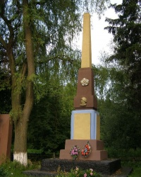 с. Смолянка. Памятный знак погибшим односельчанам.