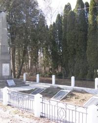 Братская могила чехословацких воинов в поселке Свитанок
