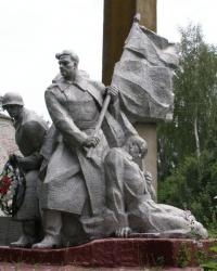 с.Великая Весь. Памятный знак погибшим односельчанам.