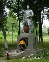 с. Володимирівка. Братська могила і пам'ятний знак односельцям.