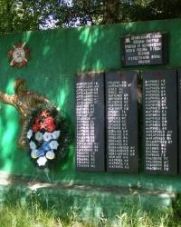 с. Высокинь. Памятный знак погибшим односельчанам.