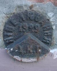 Репер 1929 года и ПП без номера на улице Революции 1905 года, дом № 35
