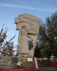 Братская могила в Дергачах. Около кладбища