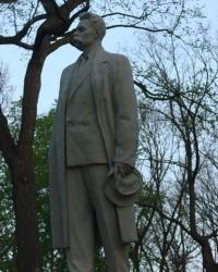Максим Горький в баварском парке Ильича