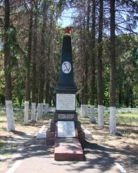 Братская могила в селе Донец