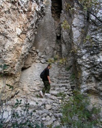 Лестница тавров на горе Караул-Оба