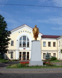 Ленин на станции Основа