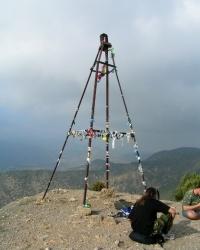 Триагуляция на горе Караул-Оба