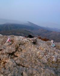 Триангуляция на горе Алчак. Спиленная
