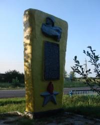 Памятник погибшим землякам в селе Топольское