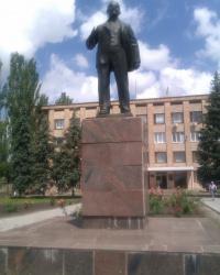 Памятник В.И.Ленину в пгт.Высокополье!