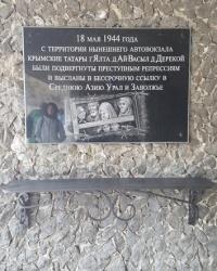 Аннотационная доска памяти жертв депортации крымскотатарского народа в Ялте