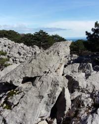 Каменный хаос у подножия горы Крестовая