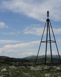 Тріангуляція на вершині Кизил-Кая