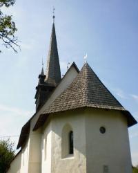 Готический реформаторский храм с деревянной колокольней в с.Четфалва