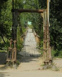 Висячий (подвесной) мост в Великой Александровке