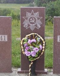Пам'ятний знак воїнам в c. Дніпрельстан Запоріжського району