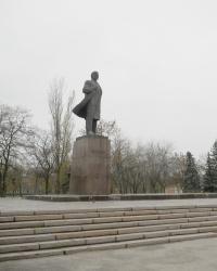 Активный памятник Ленину в Никополе