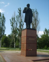 Памятник В.И. Ленину в Васильевке Запорожской области