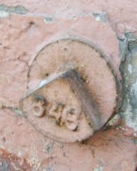 Репер на историческом здании в Запорожье