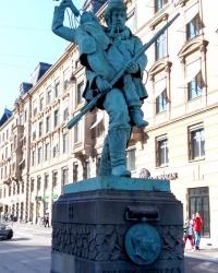 Памятник солдатам із сурмою в Копенгагені