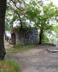 Развалины старинной водокачки в Запорожье