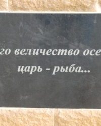Памятник осетру на Белосарайской косе