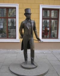 Памятник Пушкину на улице Пушкинской