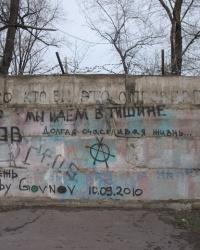 Стена Е.Летова в Днепродзержинске