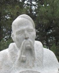 Памятник Казаку-Мамаю на Хортице