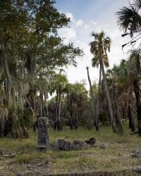 Руины усадьбы Шаррера на острове Каладези