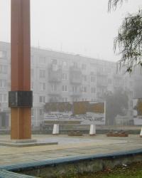 Мемориал воинам – гвардейцам 42-й СД на Аллее  Славы в пгт. Гвардейское