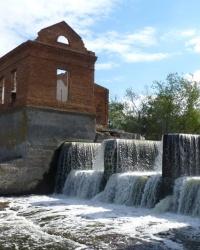 Малые ГЭС Украины. Васильковская ГЭС. Плотина с водопадом