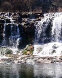 Карачуновский (Западный) водопад в г.Кривой Рог